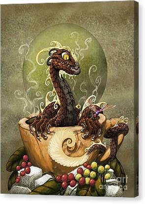 Coffee Dragon Canvas Print by Stanley Morrison