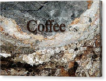 Coffee Edit 2 Brown Letters Canvas Print