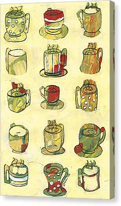Coffee Shop Canvas Print - Coffee For Fifteen by Jennifer Lommers