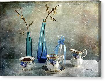Coffee For One Canvas Print by Randi Grace Nilsberg