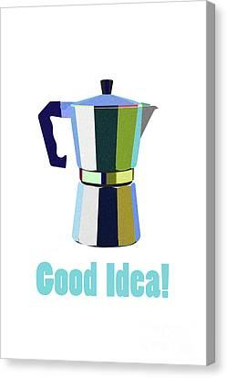 Italian Kitchen Canvas Print - Coffee? Good Idea by Krokoneil