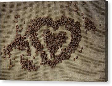 Capuccino Canvas Print - Coffee Heart by Pamela Williams