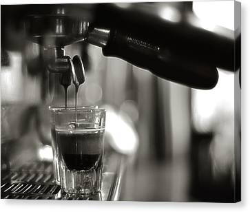 Coffee In Glass Canvas Print by JRJ-Photo