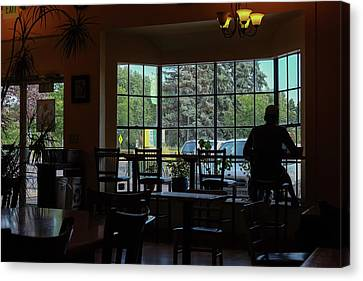 Canvas Print featuring the photograph Coffee In The Shadows  by Monte Stevens