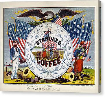 Coffee Label, C1862 Canvas Print by Granger