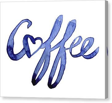 Coffee Love Canvas Print by Olga Shvartsur