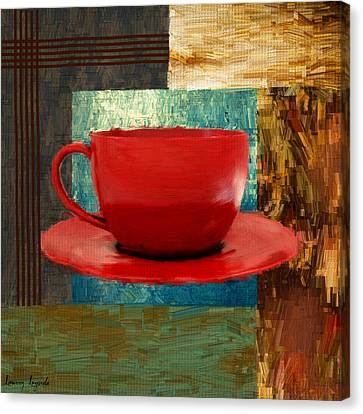 Coffee Lover Canvas Print by Lourry Legarde