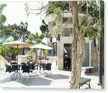 Coffee Lover's Expresso Bar At The Moll Boscana Town Square Canvas Print