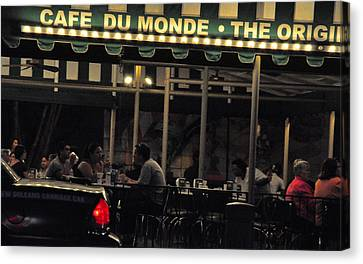 Coffee Nola Style Canvas Print by Helen Haw