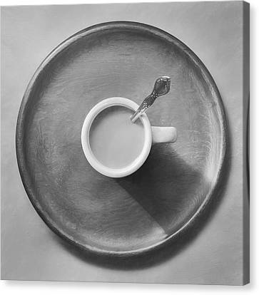 Coffee On A Wooden Tray Canvas Print by Scott Norris