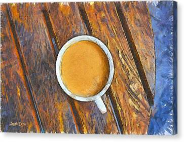 Coffee On The Table - Pa Canvas Print
