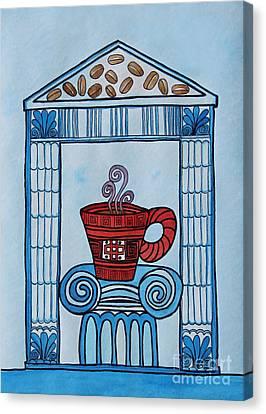Appleton Art Canvas Print - Coffee Palace Blue by Norma Appleton