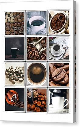 Coffee Poster Canvas Print by Edward Fielding