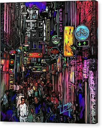 Coffee Shop, Amsterdam Canvas Print by DC Langer