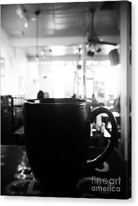 Canvas Print featuring the photograph Coffee Shop by Utopia Concepts