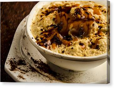 Coffee Souffles With Caramels Canvas Print
