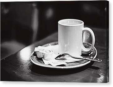 Canvas Print featuring the photograph Coffee With Cream by April Reppucci