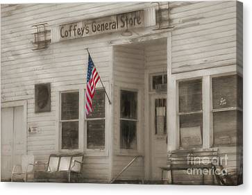 Grocery Store Canvas Print - Coffey's General Store by Benanne Stiens