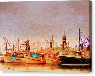Canvas Print featuring the photograph Coffs Harbour Fishing Trawlers by Wallaroo Images