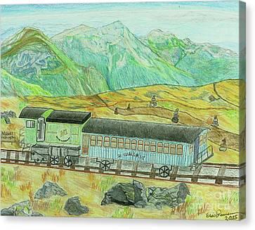 Cog Rail Mt Washington Canvas Print
