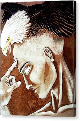 Cogito Ergo Sum Canvas Print by Paulo Zerbato