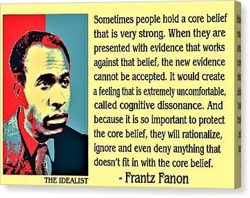 Cognitive Dissonance Frantz Fanon Canvas Print