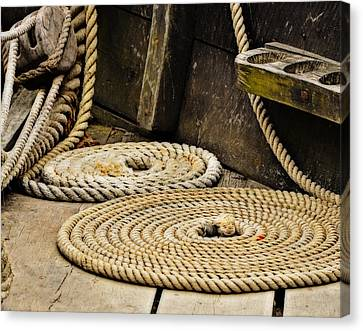 Coiled Rope From Philadelphia II Gunboat Canvas Print