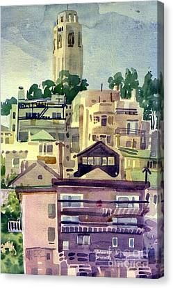 Coit Tower Canvas Print by Donald Maier