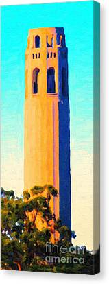 Coit Tower San Francisco Canvas Print by Wingsdomain Art and Photography