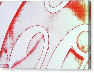 Canvas Print featuring the photograph Coke 2 by Laurie Stewart