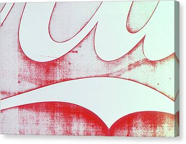 Canvas Print featuring the photograph Coke 4 by Laurie Stewart
