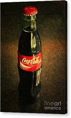 Coke Bottle Canvas Print by Wingsdomain Art and Photography