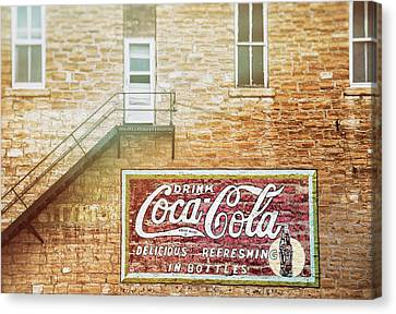 Canvas Print featuring the photograph Coke Classic by Darren White