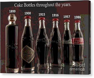 Coke Through Time Canvas Print by George Pedro