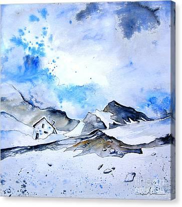Col Du Pourtalet In The Pyrenees 01 Canvas Print by Miki De Goodaboom