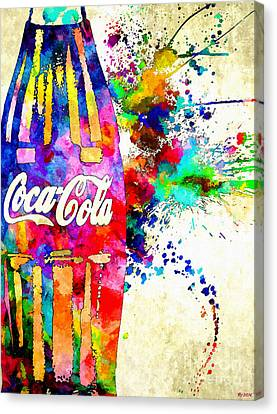 Cola Grunge Canvas Print