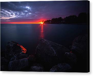 Colchester Sunset Canvas Print by Cale Best