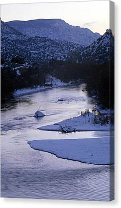 Cold And Blue Canvas Print by Lynard Stroud