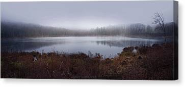 Cold And Misty Morning... Canvas Print