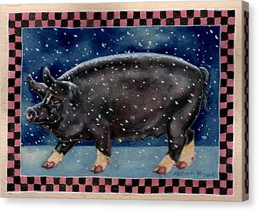 Cold Bacon Canvas Print by Beth Clark-McDonal