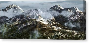 Cold Mountain Canvas Print by Richard Rizzo