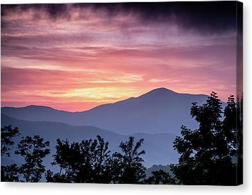 Cold Mountain Sunset Canvas Print