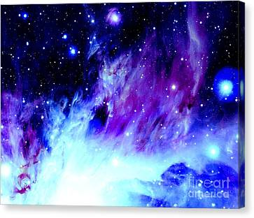 Purple Blue Orion Nebula Canvas Print