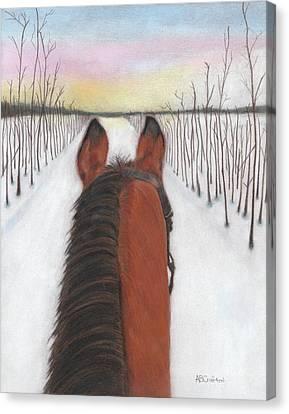 Cold Ride Canvas Print