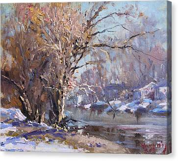 Cold Spring In Lasalle Canvas Print by Ylli Haruni