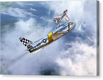 Cold War Clash Canvas Print by Peter Chilelli
