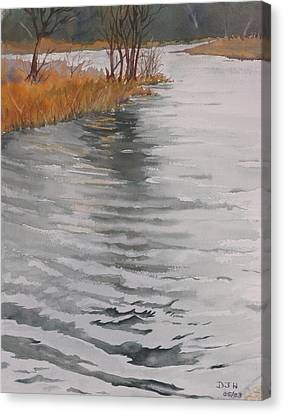 Cold Water Canvas Print by Debbie Homewood