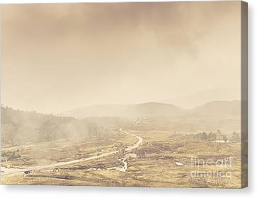 Cold Winter Landscape On Cradle Mountain Tasmania Canvas Print