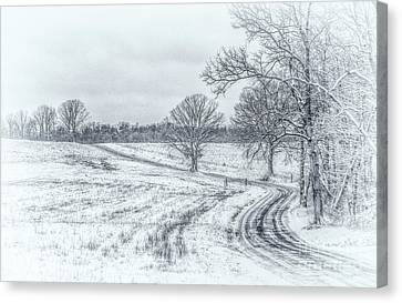 Cold Winter Morning Sketch Canvas Print