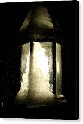 Cold Winter Night Canvas Print by Ed Smith